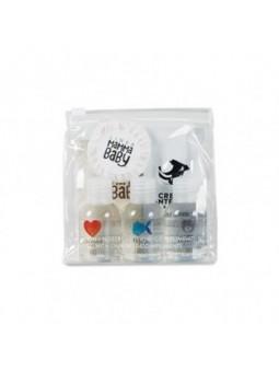 LINEA MAMMA BABY Pochette in PVC trasparente con chiusura cursore contenente (sapone