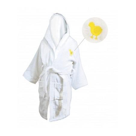 LINEA MAMMA BABY Accappatoio con cappuccio in spugna bianca 450g. Tg.XS (4/6anni)
