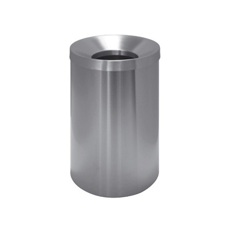 STEEL WASTE BASKET WITH SELF-EXTINGUISHING LID
