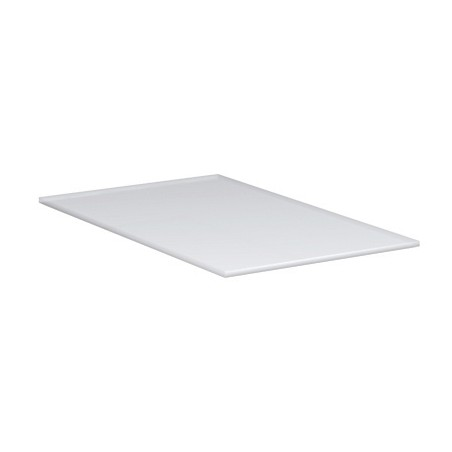 Tray in satin plexi, dimensions: 200 x 120 mm, thickness 3 mm, rounded corners, non-slip rubber feet.