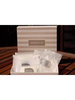 kit di cortesia per hotel in trousse di cartoncino 1€