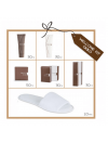 Hotel pack with toiletries and amenities accessories for hotel and inns