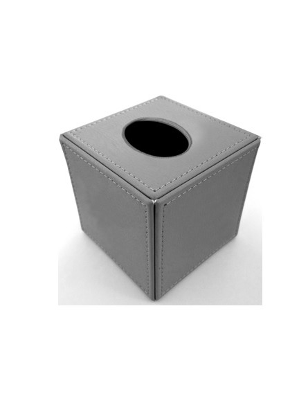 Tissue box CUBO in faux leather
