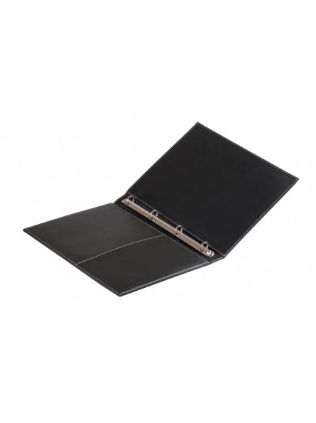 Customized Directory in eco-leather, with padded cover, interior with pocket and rings