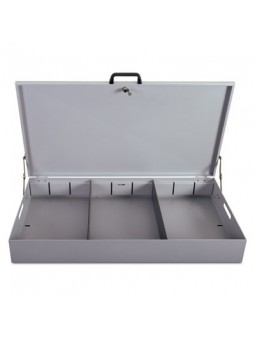 Glove box with lid and lock