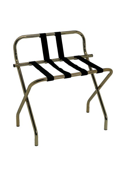 LUGGAGE RACK FOR HOTEL WITH SIDE BRASS PLATED