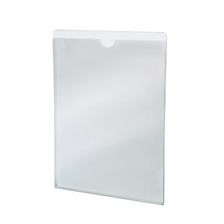 ROOM PRICE LIST POCKET IN TRANSPARENT METHACRYLATE THICKNESS 2MM, C-FOLDED.