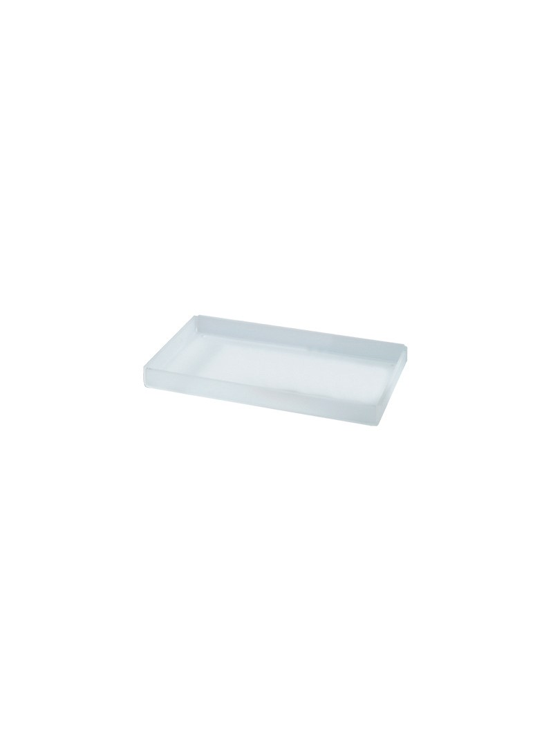 Tray in satin plexi for hotels or bathroom 165x95 mm
