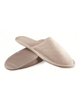 Luxury Closed Toe Terry Cloth Adult Spa Slippers - Dove Grey shipped from Italy