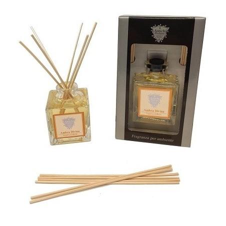 Diffusore di fragranze a midollino in confezione regalo nera - Antichi Profumi Milano