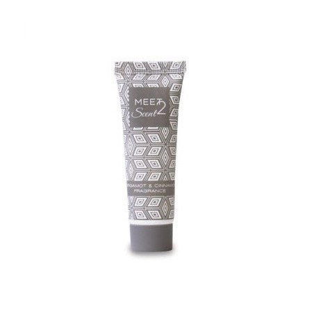 Meet 2 scent Shampoodoccia da 30ml in tubetto 110mm con tappo a vite colorato fragranza BERGAMOTTO e CANNELLA per hotel e B&B