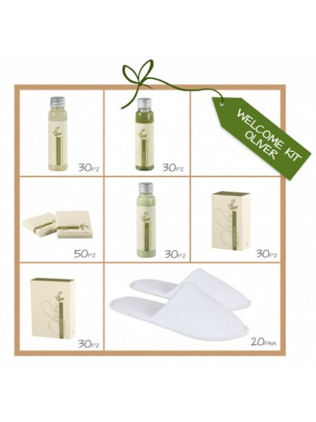 Hotel toiletries with olive oil for hotels and inns made in Italy
