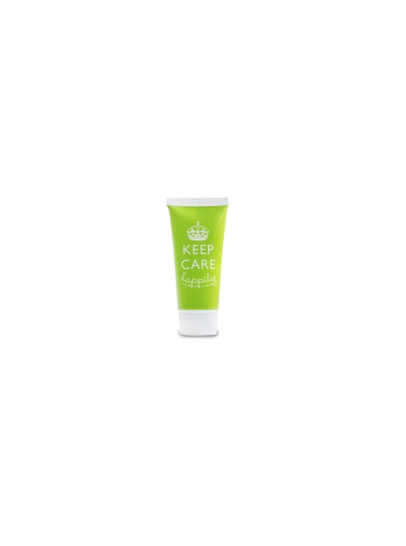Crema corpo bianca opaca da 30ml in tubetto h100mm verde con tappo a vite bianco