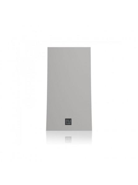 Dosatore a muro ILLI 1, attacco in ABS nero, frontalino argento, capacità 325 ml