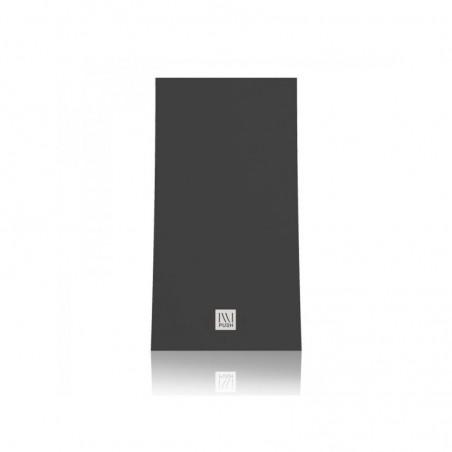 Dosatore a muro ILLI 1, attacco in ABS nero, frontalino nero, capacità 325 ml