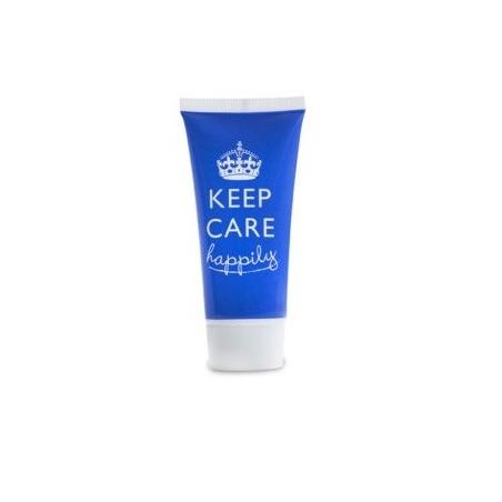 Shampoo incolore trasparente da 30ml in tubetto h100 mm azzurro con tappo a vite colorato bianco