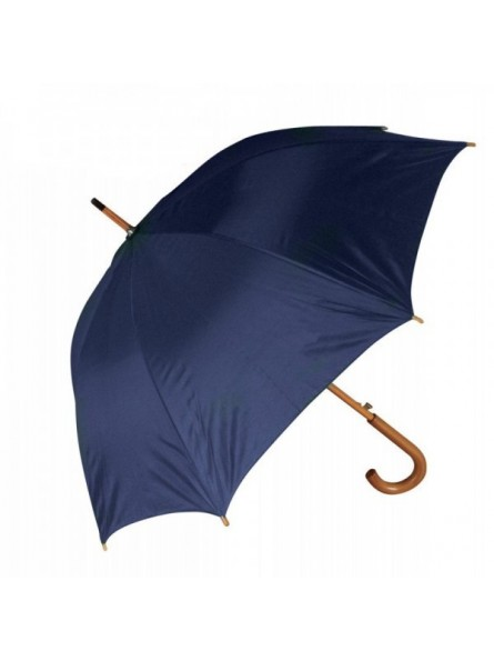 Umbrella 8 segments with wooden handle and shaft, windproof fiber frame. Automatic opening.