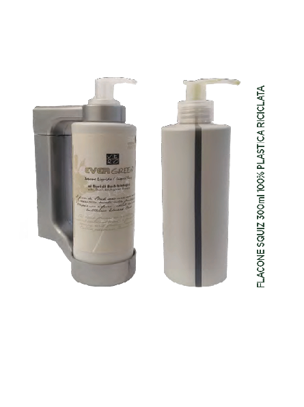 EVERGREEN Dispenser Press & wash (Tokio) 300ml, Body lotion with Bach Biological flowers