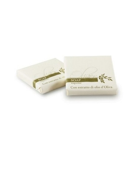 Soap bar for hotel with italian olive oil