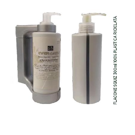 EVERGREEN Dispenser Press & wash (Tokio) 300ml, Hair & body gel with Bach Biological flowers 30pcs