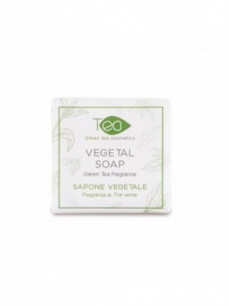 Natural made in Italy Green tea soap bar 20g for hotels