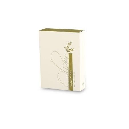 Vanity set in astuccio di cartone con cassetto scorrevole (55c75x20mm)