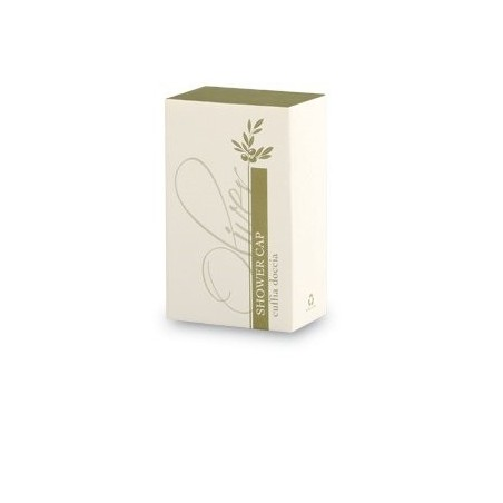 Cuffia doccia in astuccio di cartone con cassetto scorrevole (40x66x25mm)