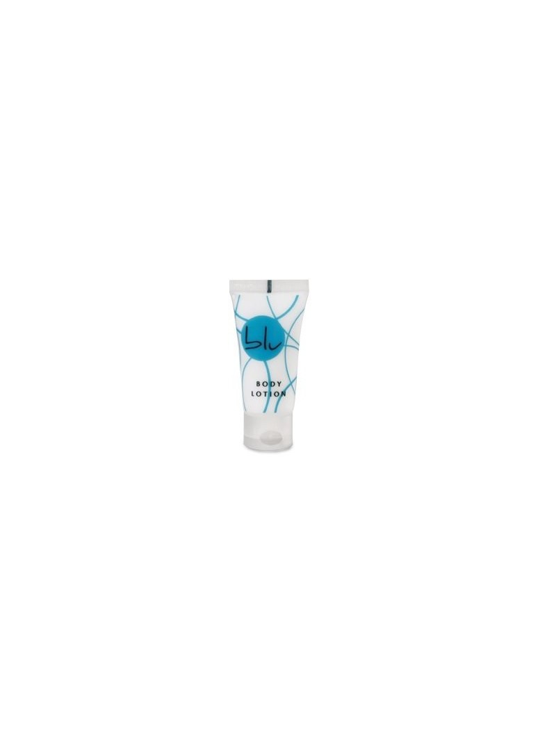 BLU Body Lotion, 20ml squeeze tube, flip-top cap with blue design FRUITY fragrance.