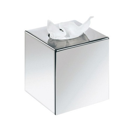 CUBE DISPENSER FOR INTERLAYED FACIAL tissue paper IN cromed ABS 13X13X13 CM
