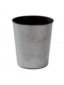 Wastepaper basket in painted aluminum white, grey or black. Made in Italy