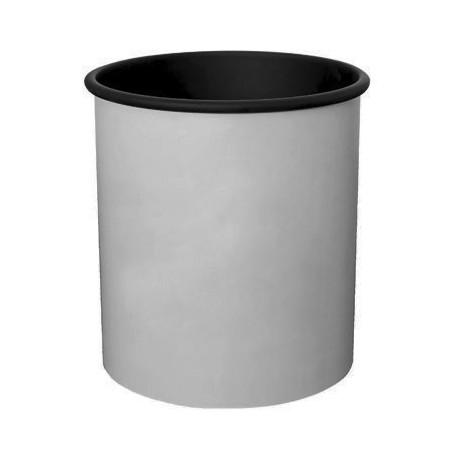 CYLINDRICAL PAINTED ALUMINUM GUEST ROOM WASTE BASKET