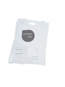 White polyethylene laundry bag 40x60cm - EASY LINE - 500pcs