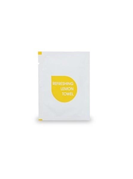 Tovagliolino monouso al limoneSalvietta detergente e rinfrescante al limone in cellulosa