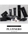 LINEA PLATINERO Flacone igiene intima 20ml, tappo nero, etichetta nera stampa argento in lamina