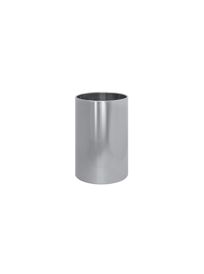 STAINLESS STEEL WASTE BASKET ROUND for professional use hotel or office fire proof