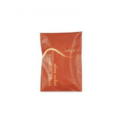 RELAX Shoe sponge in plastic open/close sachet with orange design. Dim.: l 8 x h 11 cm